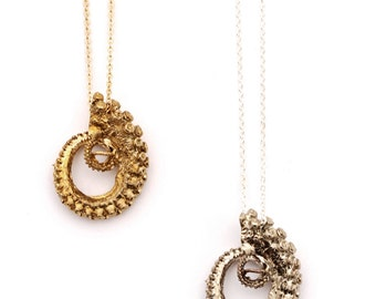 Bronze Tentacle Necklace