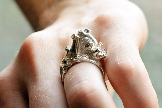 Etsy Anatomical Heart Ring