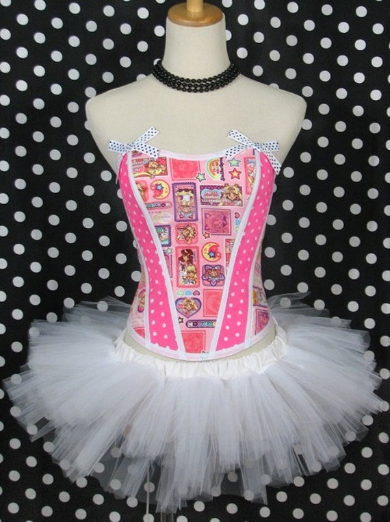 Sailor Moon Polka Dots Anime Corset Top By Thevintagedoctor