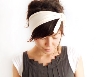 Tie Up Headscarf Vanilla