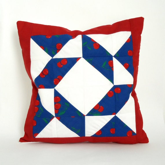 SALE Pair of Patchwork Cushion Covers