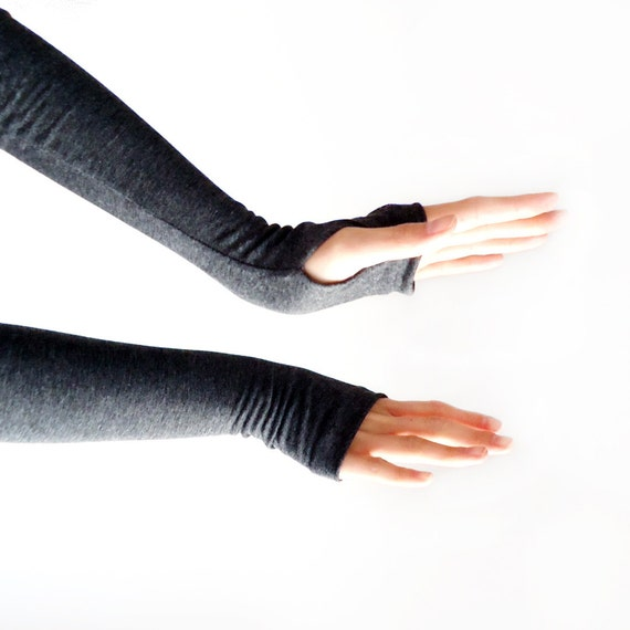 Armwarmers Charcoal // Gloves // Fingerless Gloves // Arm Warmers // Wrist Warmers // Sleeves // Arm Stockings // Grey Marl