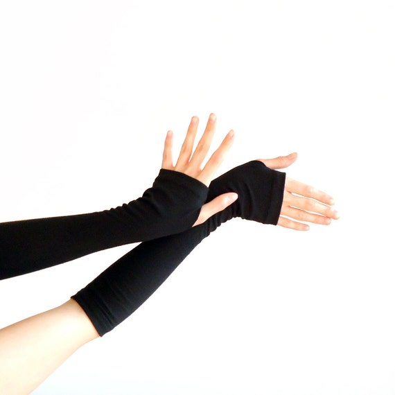 Armwarmers Black // Gloves // Fingerless Gloves // Arm Warmers // So Many Other Colours and Patterns Available!