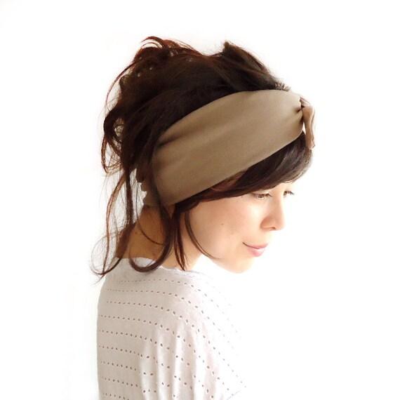 Tie Up Headscarf Mocha