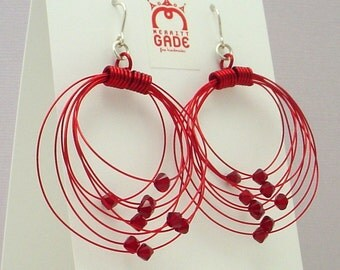 Red Orbits Earrings