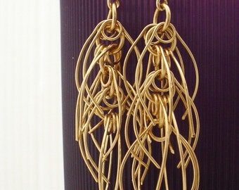 Gold Chunky Cascade Earrings