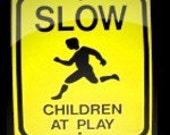 Aluminum Mid Size CHILDREN PLAYING SIGN