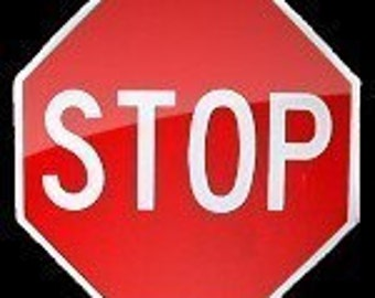 Mini Metal Stop Sign             Free Shipping