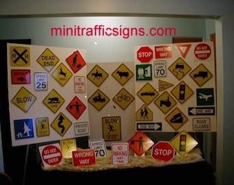 Metal Miniature Traffic Signs