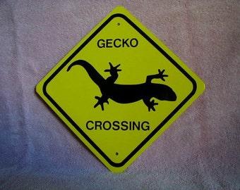 METAL  Gecko Crossing  MINI Traffic SIGNS    Free Shipping