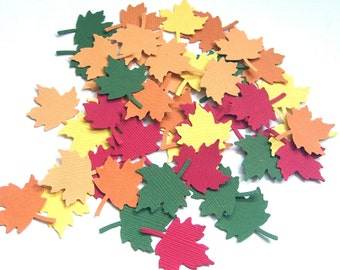 Autumn Leaves - Set of 50 Punched Leaves