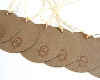 Tiny Chick Gift Tags - Set of 6 Gift Tags