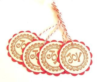 Joy Gift Tags - Set of 4