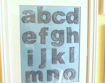Glittered Alphabet Wall Hanging