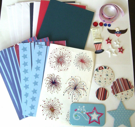 DIY Red, White and Blue Card Making Kit