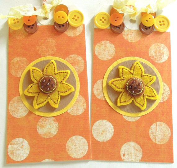 Sunflower Gift Tags - Set of 2