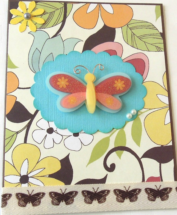 Butterfly - Handmade All Occasion/Blank Greeting Card