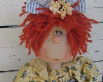 E pattern...Country Primitive doll