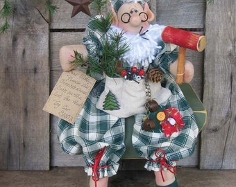 Primitive Country Christmas Elmo Elf E Pattern