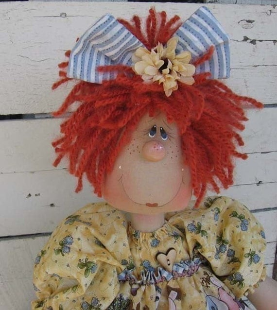 E pattern...Country Primitive doll by DeenasCountryHearth on Etsy