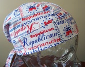 CLEARANCE Doo Rag with Republican Print