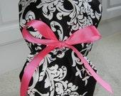 Turn Up Ponytail Scrub Hat in Elegance CHOOSE RIBBON COLOR