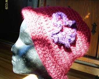 Cute Hat and Scarf Set - Red and Purple