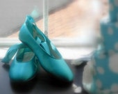 Wedding shoes Tiffany Blue  Ballerina Flats Personalized