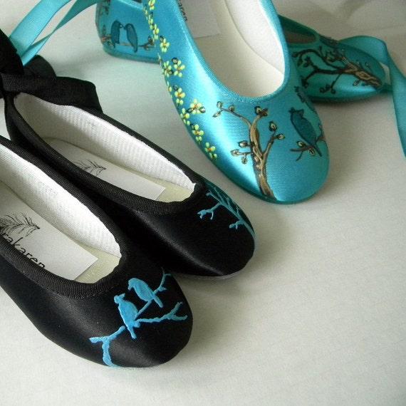 Items Similar To Black Wedding Shoes , Aqua Blue Flats