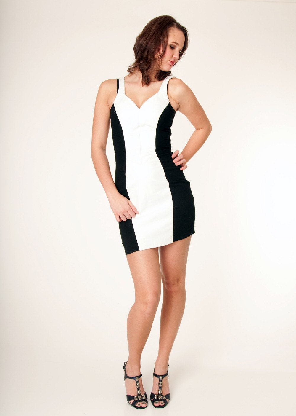 Black And White Tight Skirt