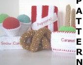 Play Food Crochet Pattern -- Fairground Food