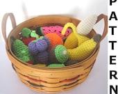 Crochet Food Pattern for Fruit