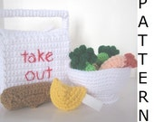 Play Food Crochet Pattern -- Chinese Takeout
