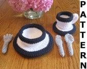 Dinnerware and Flatware Crochet Pattern