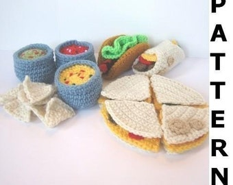 Play Food Crochet Pattern  for Mexican Food