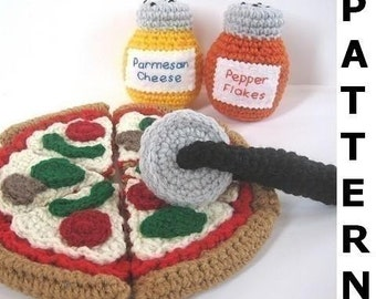Pizza Play Food Crochet Pattern