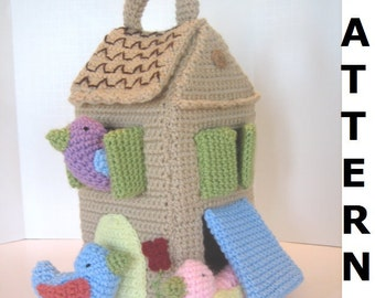 Bird House Crochet Pattern