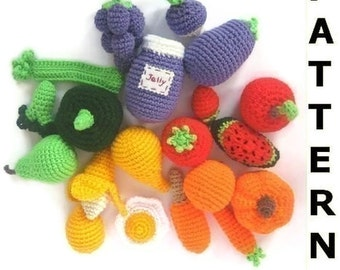 Learning Colors Play Food Crochet Pattern