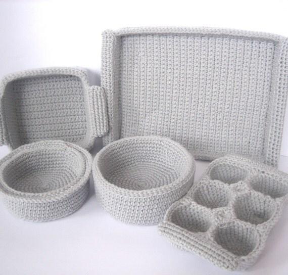 Crochet Pattern Baking Dishes
