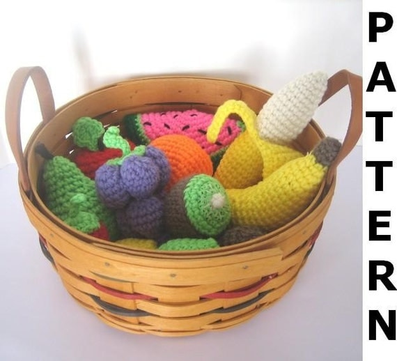 Crochet Food Pattern for Fruit