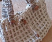 Crocheted bag ,ivory hobo ,knit,crochet,fashion,gift ,spring fashion.winter accessories.