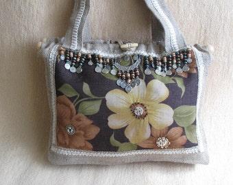 Authentic fabric hobo bag.hand bag,woman bag,sewed bag ,spring fashion
