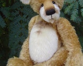 """Choose-your-own-fur (FAUX) complete HAPPY artist teddy bear KIT - 16"""" finished bear"""
