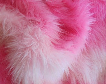 Coconut Ice - Multitonal pink 45mm pile synthetic faux fur fabric - 1/2m piece