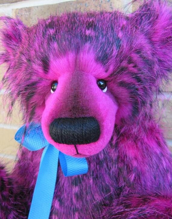 Beres -  18IN PINK artist bear - OOAK