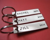 Keychains - Personalized Custom Hand Stamped Key chains - Customized by You