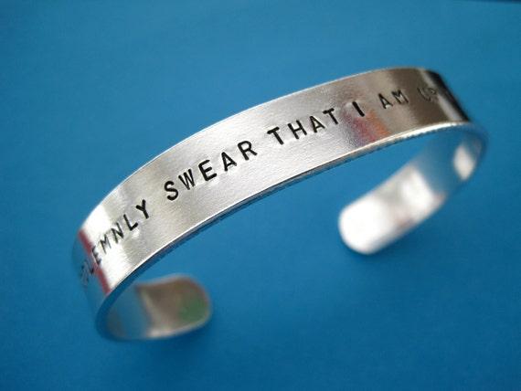 Harry Potter inspired Bracelet - I Solemnly Swear That I Am Up To No Good - 3/8