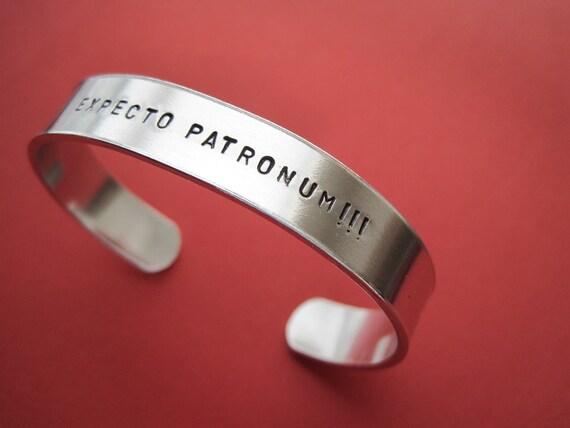 Harry Potter Jewelry - Expecto Patronum - Custom stamped bracelet - 3/8