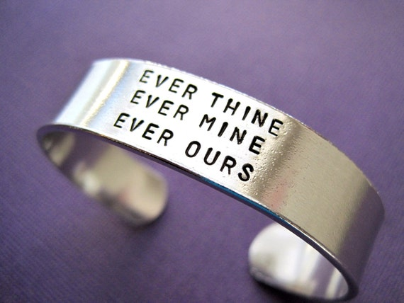 personalized bracelet ever thine ever mine ever ours