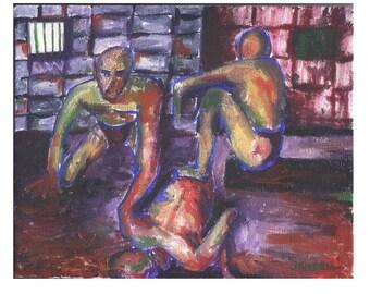 En Esch Video Spawn - JENDRIA Original Oil Painting Art